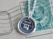 fare well wax seal necklace