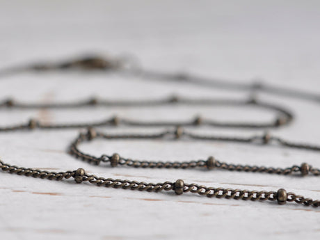 "necklace chain - antiqued brass satellite chain - 16"" - 18"" - 24"" length"