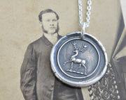 stag wax seal pendant