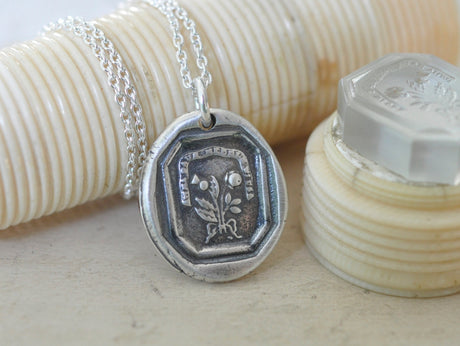Scottish thistle and English rose wax seal necklace - outlander