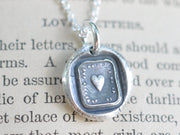 heart wax seal necklace