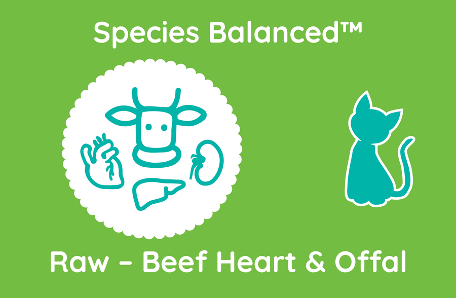 Species Balanced™ Raw Beef Heart & Offal for Cats (PP2019)