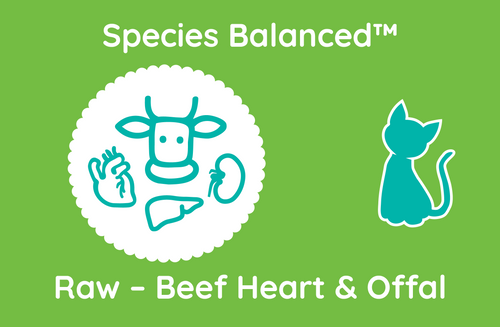 Species Balanced™ Raw Beef Heart & Offal for Cats