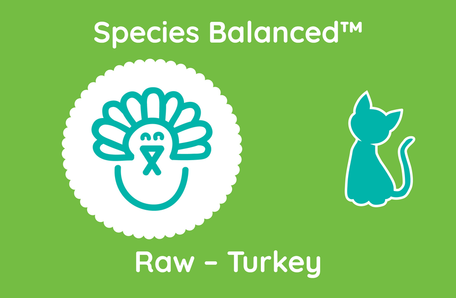 Species Balanced™ Raw Turkey for Cats (PP2019)