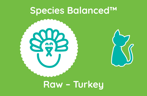 Species Balanced™ Raw Turkey for Cats