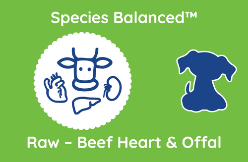 Species Balanced™ Raw Beef Heart & Offal for Dogs