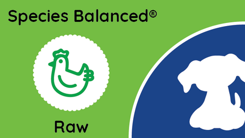 Species Balanced® Raw Chicken Dinner for Dogs