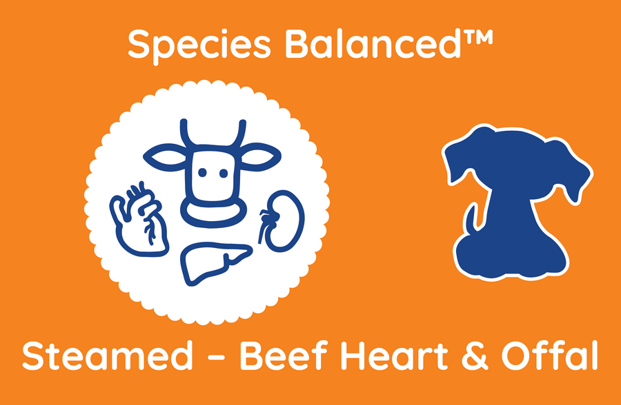 Species Balanced™ Steamed Beef Heart & Offal for Dogs