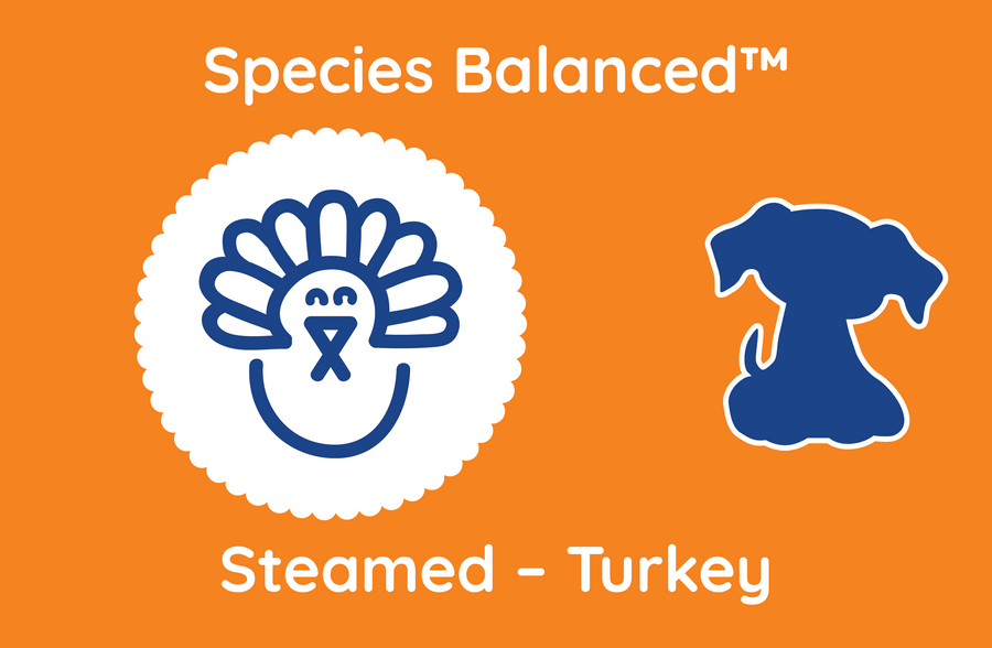 Species Balanced™ Steamed Turkey for Dogs