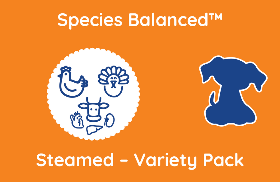 Species Balanced™ Steamed Variety Pack for Dogs