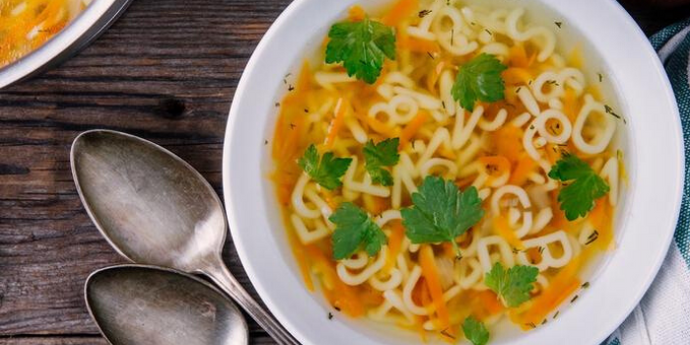 Chicken Noodle Soup Infused With Iron
