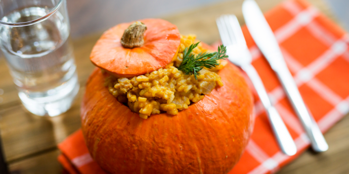 Easy Vegan Pumpkin Risotto