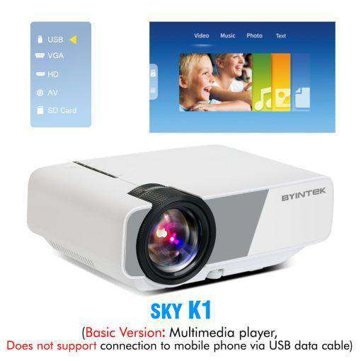 BYINTEK SKY K1/K1plus LED Portable Home Theater HD Mini Projector
