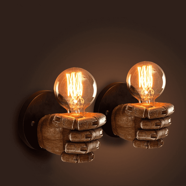 unique hand wall lamps