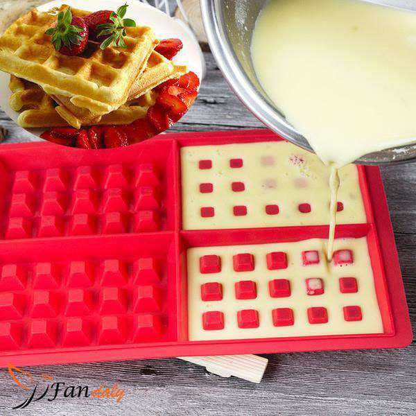Food-grade Silicone Waffle Mold - Fandaly