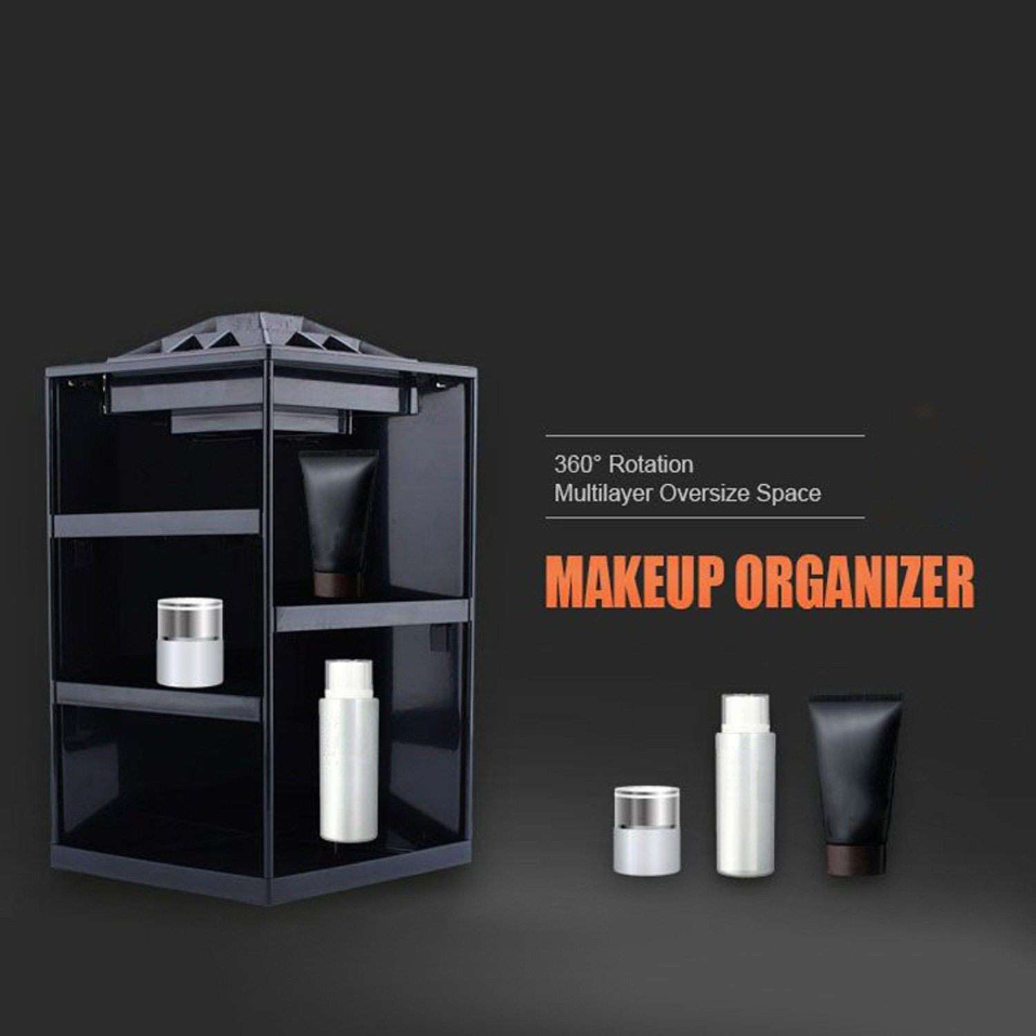 360 Rotating Makeup Organizer Box