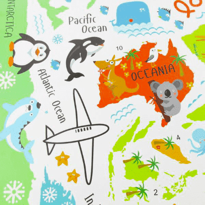 Animal world map wall decal fandaly animal world map wall decal gumiabroncs