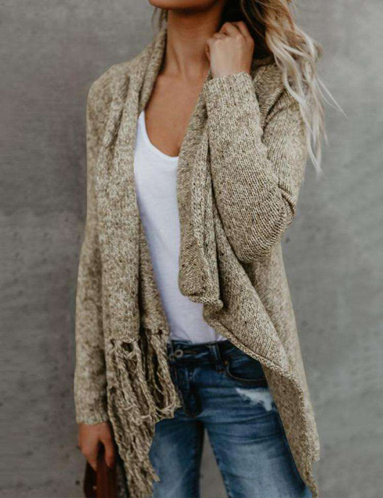 Casual V Neck Sweater Cardigans