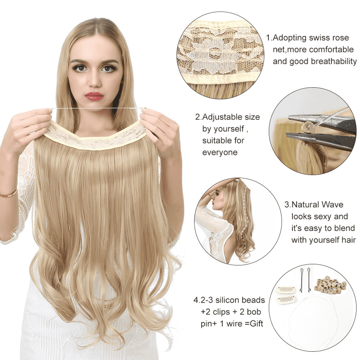 Invisible Halo Hair Extensions | Fandaly.com