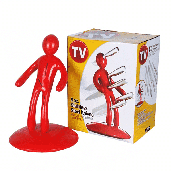 Humanoid 5-Pieces Knife Magnet Holder