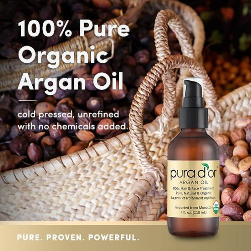 Pura D'or Moroccan Pure And Organic Argan Oil