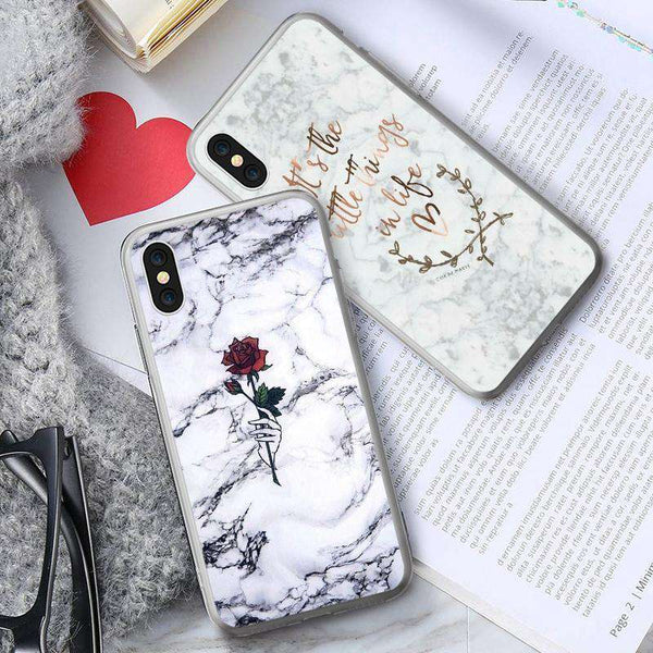 KISSCASE Rose Marble Case For Samsung Galaxy