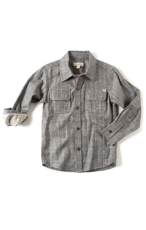 Slate Stripes Button Up Shirt