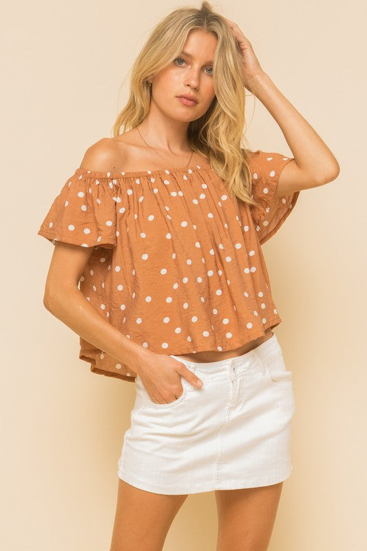 Penny polka dot top