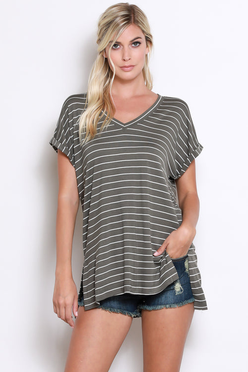Stassi Stripe Top