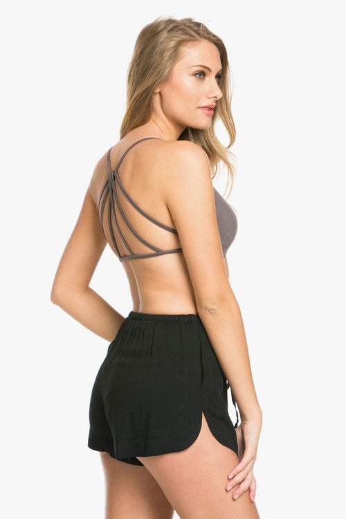 V-neck Strappy Back Bralette