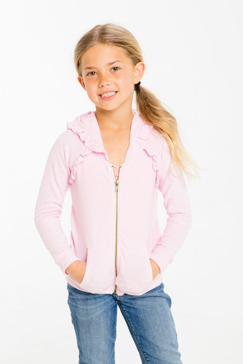 Girls Knit Zip Up