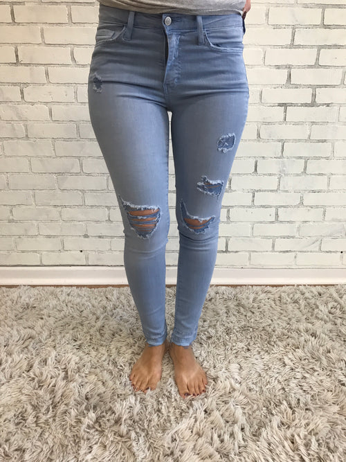 Blue Lava Distressed Jean