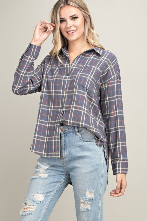 Havana Plaid Top