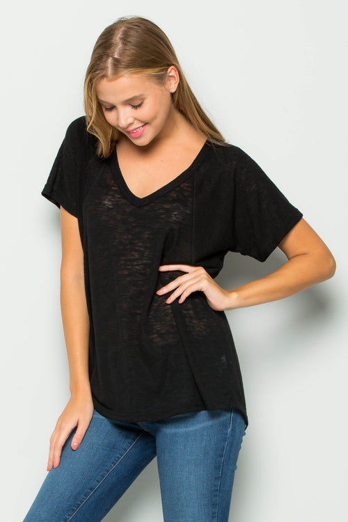Ryan Ribbed Sleeve Top