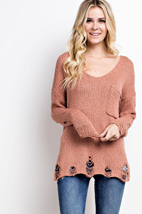 Shiloh Distressed Sweater