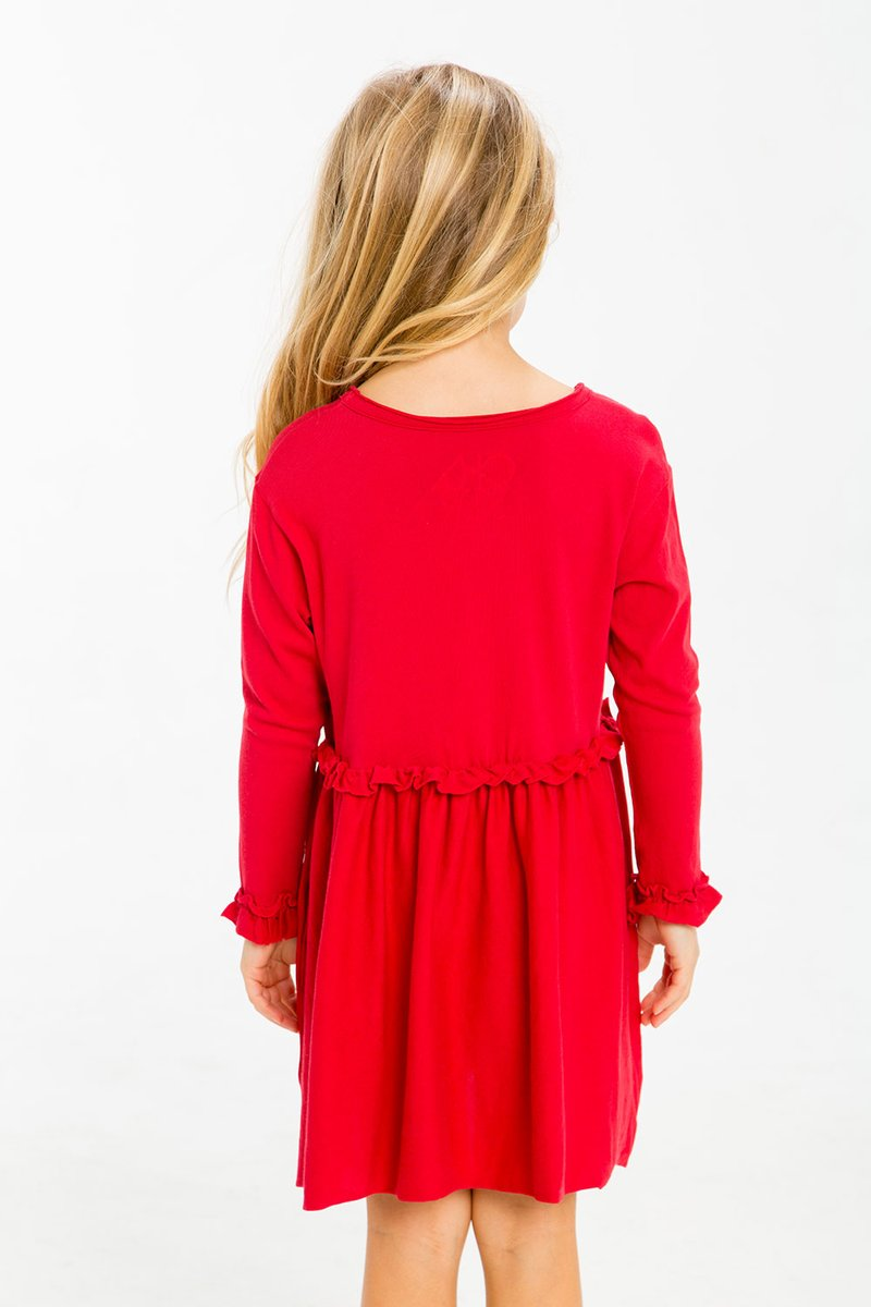 Cardinal Ruffle Dress