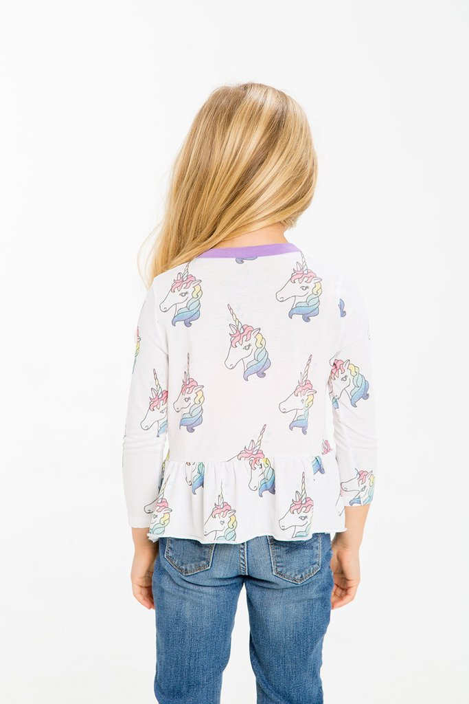 Unicorn Peplum Top