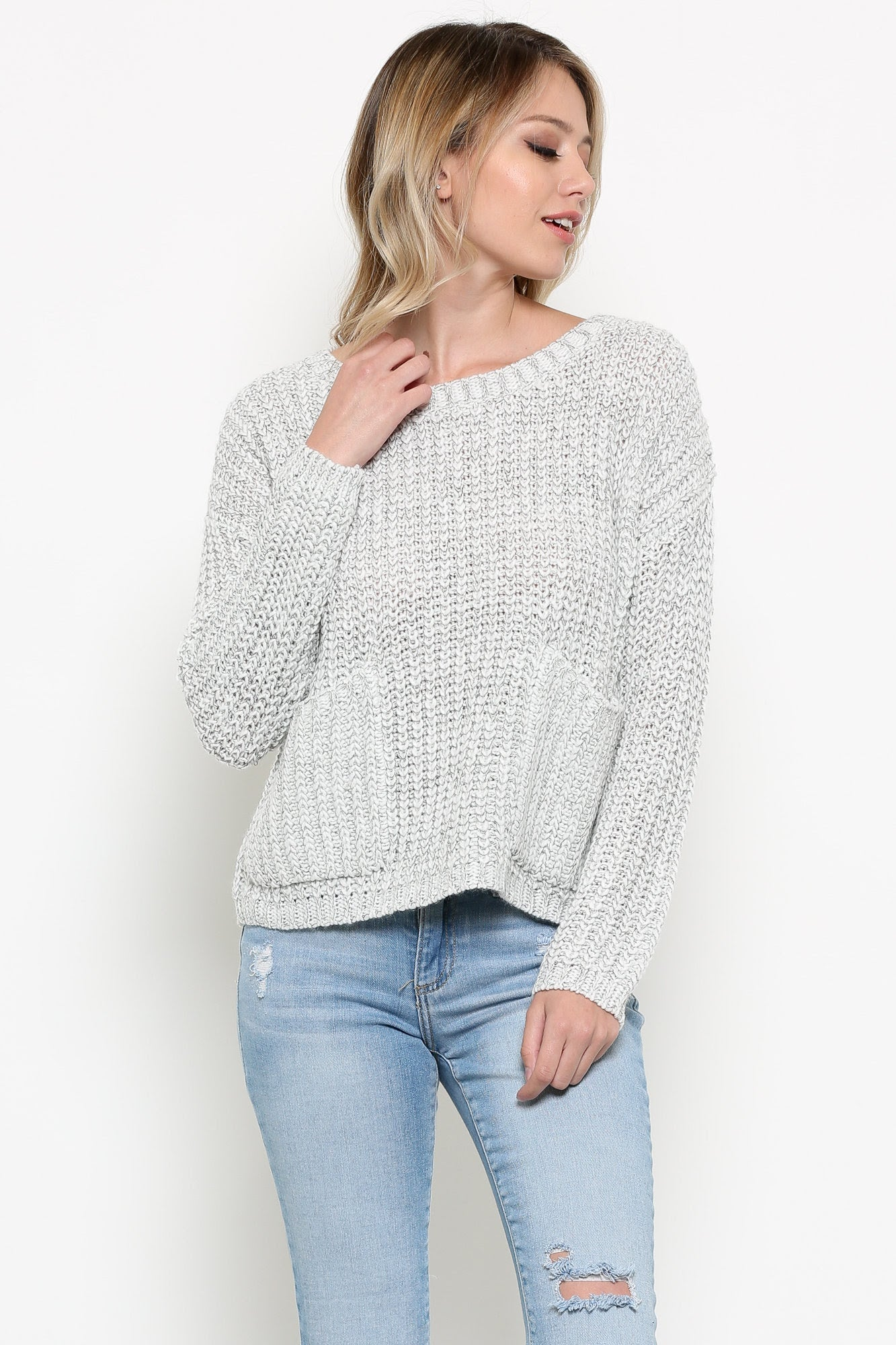 Double Pocket Knit Sweater