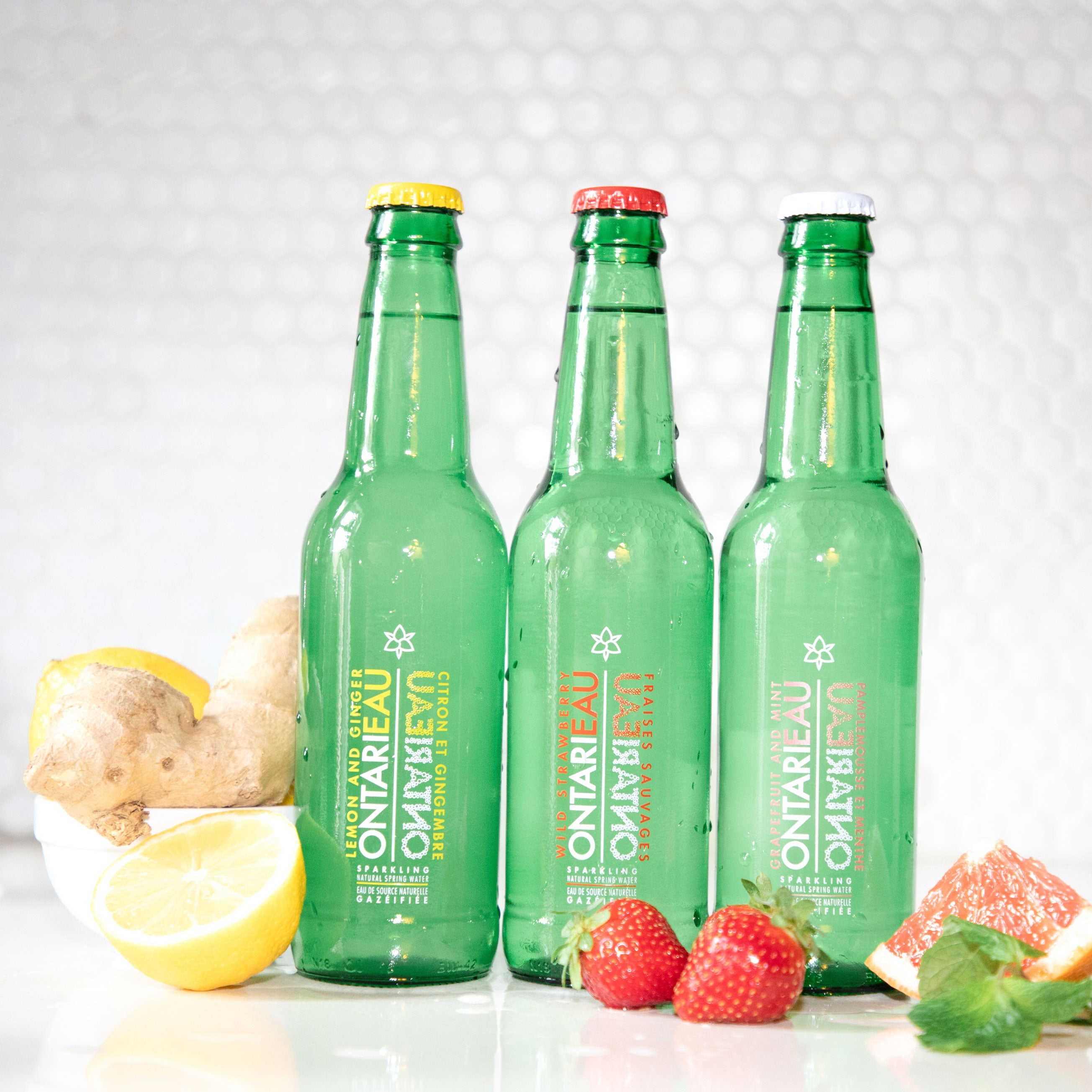 Wild Strawberry Ontarieau Sparkling Spring Water