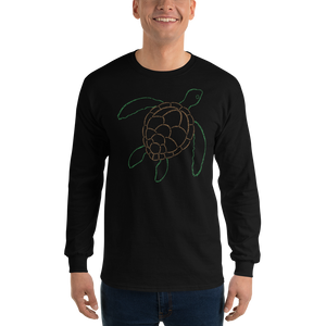 Sea Turtle Type Figure Long Sleeve T-Shirt - Ink Formation
