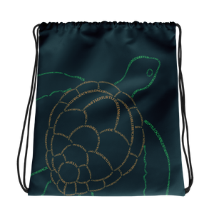 Sea Turtle Type Figure Drawstring bag - Ink Formation