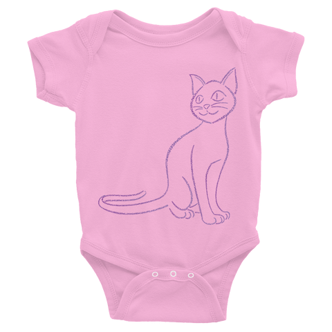 Cat Type Figure Infant Bodysuit - Ink Formation