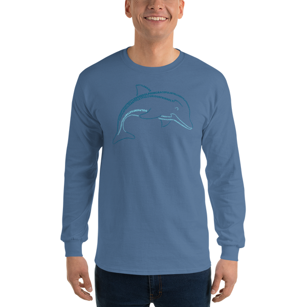 Dolphin Type Figure Long Sleeve T-Shirt - Ink Formation