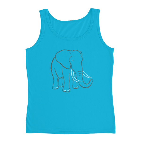 Elephant Type Figure Ladies' Tank - Ink Formation