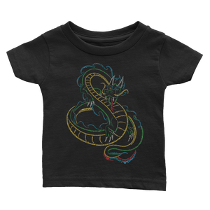 Chinese Dragon Type Figure Infant Tee - Ink Formation