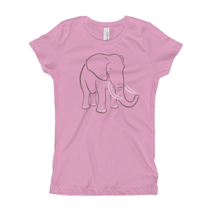 Elephant Type Figure Girl's T-Shirt - Ink Formation