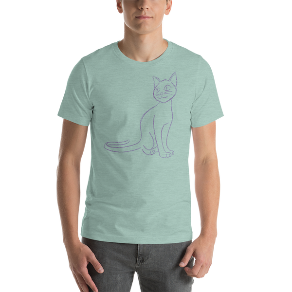 Cat Type Figure Short-Sleeve Unisex T-Shirt - Ink Formation