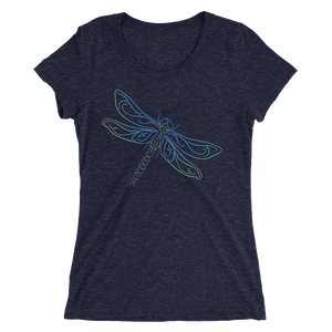 Dragonfly Type Figure Ladies' short sleeve t-shirt - Ink Formation
