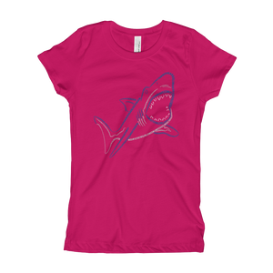Shark Type Figure Girl's T-Shirt - Ink Formation