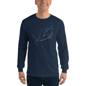 Shark Type Figure Long Sleeve T-Shirt - Ink Formation